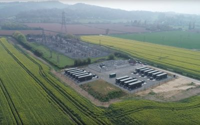 An Anesco-built UK battery energy storage system (BESS) project. Image: Anesco.