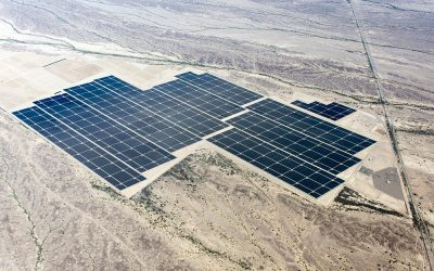 Leeward completed the acquisition of a large portion of First Solar's 10GW project development business in January. Pictured is First Solar's Agua Caliente Solar Project in Yuma, Arizona. Image: First Solar.