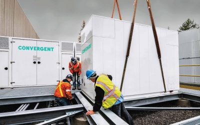 A battery energy storage project in Bolton, Ontario. Image: Convergent Energy + Power.