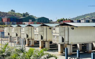 Caterpillar's grid stabilising equipment, including battery storage modules at Kibali gold mine. Image: Caterpillar.