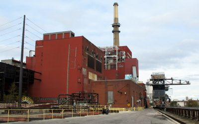 Fisk Generating Station, a coal-fired power plant in Chicago, Illinois which closed in 2012.  Economic reasons are already sending other coal plants in the same direction, but the new legislation seeks to ensure a just and responsible transition to clean energy. Image: wikimedia user Theodore Kloba.