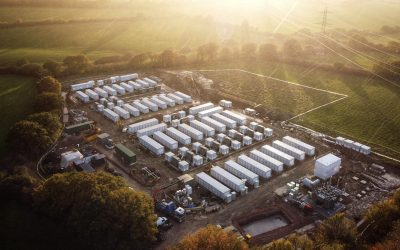 Penso Power's Minety battery project, currently the largest operational BESS of its type in Europe. Image: Shell Energy Europe.