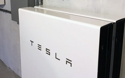 Tesla Powerwall residential battery systems used in a grid-balancing pilot project by Vermont utility Green Mountain Power. Image: Green Mountain Power.