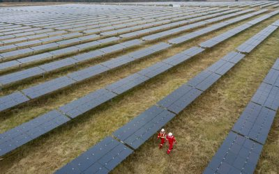 A 30MW solar farm in Tennessee, US, by Silicon Ranch, a company which Shell owns just over 43% of. Image: Stuart Conway/Shell.