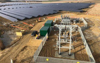 NextEnergy Solar Fund's subsidy-free 50MW Staughton solar PV project under construction. Image: NextEnergy Solar Fund.
