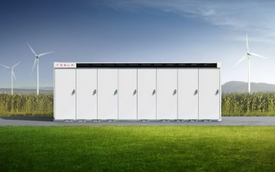 Tesla's Megapack lithium-ion battery storage solution. Image: Tesla.