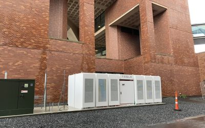 Energy storage system installed by Enel X at the University of Massachusetts. Image: Enel X.