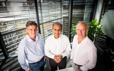 L-R Simon Morrish (CEO Xlinks), Paddy Padmanathan (Vice-Chair Xlinks), Dave Lewis (Chair Xlinks). Image: Xlinks.