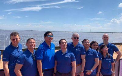 AC Energy staff at the 2019 inauguration of a 330MW Vietnamese solar farm. Image: AC Energy via Facebook.