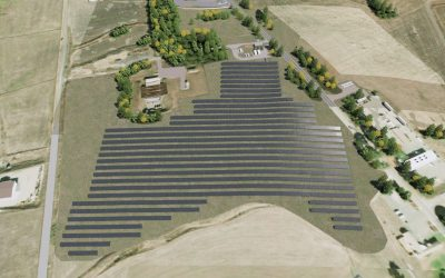 Rendering of Ameresco's Petaluma project for the USCG. Yes, technically it's a military microgrid, but proves the economic and environmental benefits of renewables and storage in the same way a C&I microgrid can. Image: Ameresco.