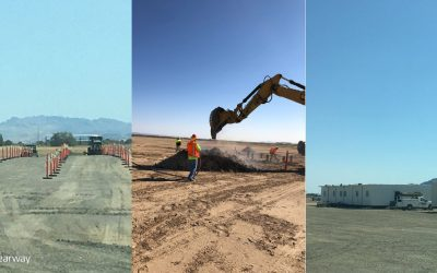Construction activity underway at the site. Clearway began work in late September before officially announcing the start of construction in a press release on 19 October. Image: Clearway via Twitter.