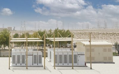 Tesla BESS equipment at the Mohammed bin Rashid Al Maktoum Solar Park. Image: DEWA.
