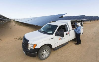 EDF Renewables' Catalina solar PV project in California's Kern County. Image: EDF Renewables.