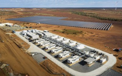 An operational battery storage system at the Agnew Gold Mine in Western Australia. Image: EDL.