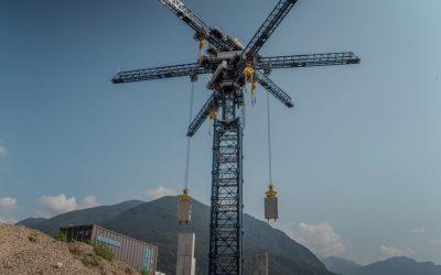 Energy Vault's existing 5MW demonstrator project in Switzerland. Image: Energy Vault.