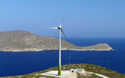 A hybrid energy project on the Greek Aegan island of Tilos uses 2.88MWh of battery storage and demonstrated how the island could reach high shares of renewable energy. Image: Eunice Energy.