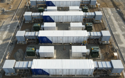 A Fluence grid-scale battery energy storage system (BESS) project in the Philippines, completed earlier this year. Image: Fluence.