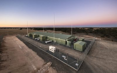 The Dalrymple BESS project the company delivered, which is Australia's first virtual synchronous machine, helping to stabilise the grid as it accomodates high penetration of wind and solar. Image: Hitachi Energy.