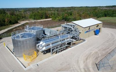Canadian company Hydrostor opened its first megawatt-scale advanced compressed air energy storage (A-CAES) plant in Ontario a while back. Image: Hydrostor.