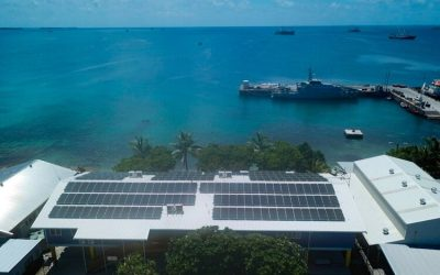 Infratec rooftop solar-plus-battery project in the Cook Islands, commissioned in early 2020. Image: Infratec.