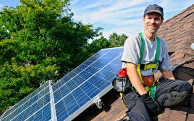 man-solar-roof