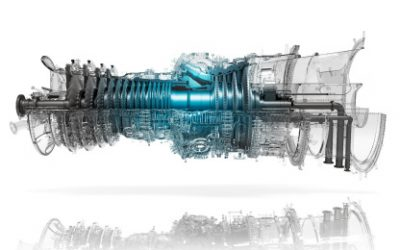 A Mitsubishi Power hydrogen-enabled gas turbine. Image: Mitsubishi Power.