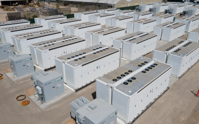 Closeup view of Saticoy in Oxnard, California. It was the biggest front-of-the-meter battery facility to come online in Q2 2021. Image: Courtesy of Arevon.