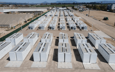 Big systems coming online this year like the 100MW / 400MWh Saticoy standalone battery project in California are contributing to IHS Markit's forecasted 12GW to come online worldwide this year. Image: Arevon.