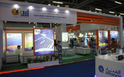 SECI exhibiting at a renewable energy investment trade event a few years ago. Image: SECI.