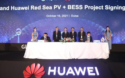 SEPCO III and Huawei Digital Power signed the contract at Huawei's Dubai summit last week. Image: Huawei.