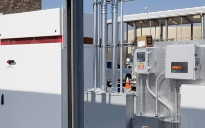 A Stem Inc C&I battery project in the US. The company installs hardware from a number of suppliers including Tesla ESS (pictured). Image: Stem Inc / CleanCapital.
