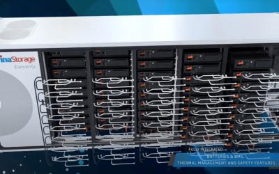 Trina Storage's liquid-cooled Elementa modular cabinet. Image: Trina Storage corporate video screenshot.