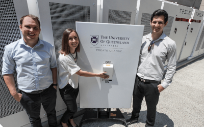 A Tesla Powerpack BESS at the University of Queensland delivered revenues from for separate grid services and wholesale streams, indicating a positive business case for batteries in the NEM. Image: University of Queensland.